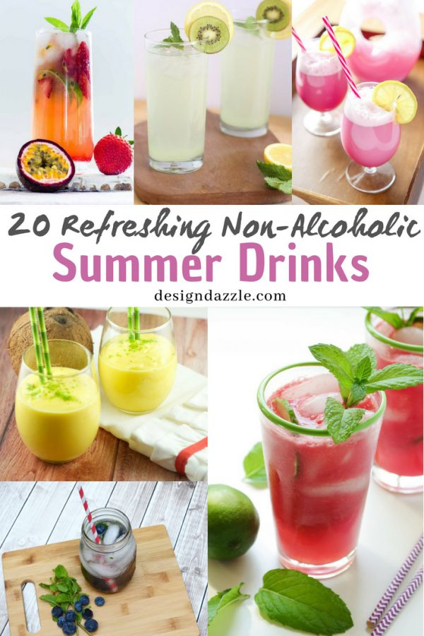 Check out our collection of non alcoholic summer drinks from the classic fruit juices and smoothies to unique drinks like ginger beer, rice milk, and more! - Design Dazzle
