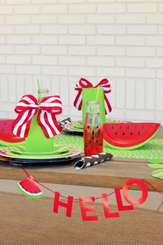 Easy Summer Watermelon Birthday Party