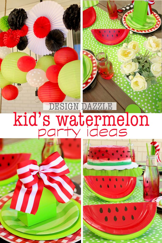 Sharing how to do an easy and fun summer Watermelon Kids Birthday Party. There is also a surprise @evite has for you! #ad #Evite20 #summerparty #summerbirthday #watermelonparty #watermelonbirthday #watermelonpartyideas #BeThere