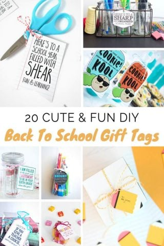 20 Fun DIY Back To School Gift Tags