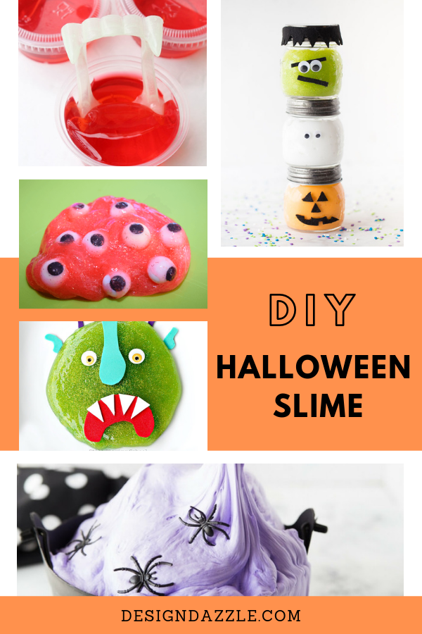 These DIY Halloween slime are so much fun they'll make your party extra exciting! The kids and kids at heart will definitely love them! - Design Dazzle