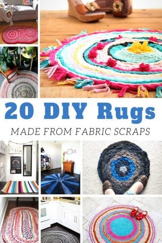 20 DIY Rugs Made From Fabric Scraps