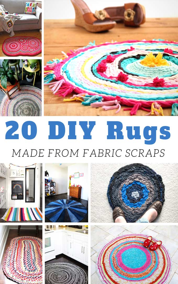 Here are some of the cutest, most adorable DIY rugs made of fabric scraps. They come in different shapes, colors, and style that you will definitely love! - Design Dazzle