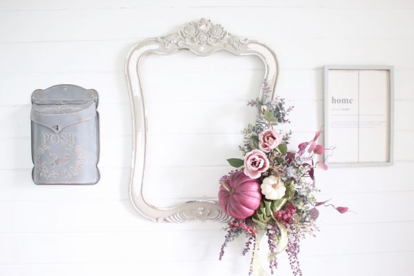 How to Make a Picture Frame Fall Wreath