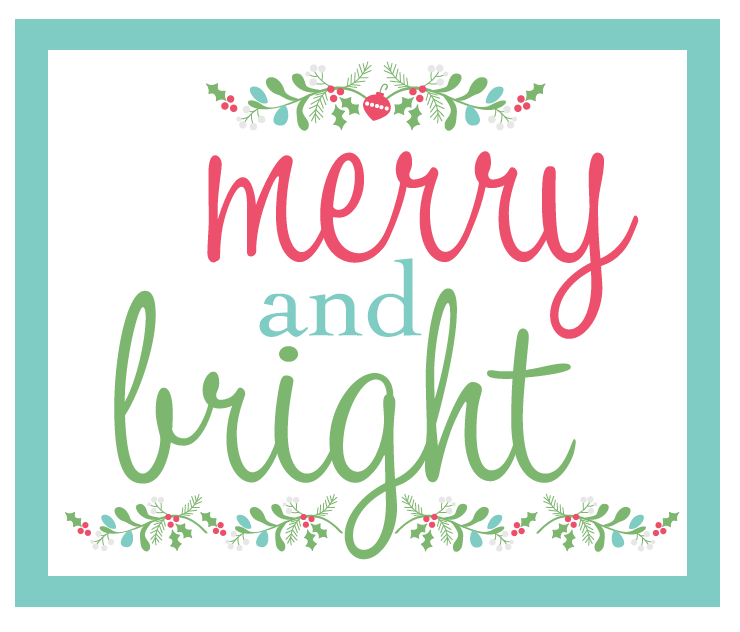 Free Printable - Merry and Bright!! Merry and Bright Girls Night out! Ideas for a Christmas gift giving! #WorldMarket #Ad