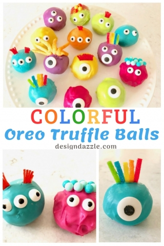 Colorful Oreo Truffle Balls