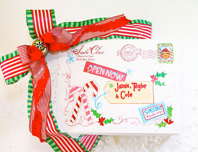 A Fun Way For Your Elf To Arrive From The North Pole
