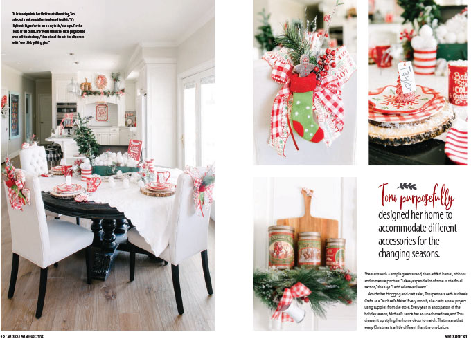 Farmhouse Christmas decor ideas from my house and published in a magazine! Indoor and outdoor Christmas decorations for the home that you will love! #christmas #christmasdecor || Design Dazzle