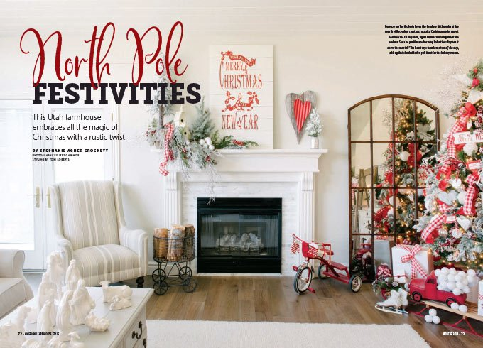 Gorgeous Christmas decor ideas from my house and published in a magazine! Indoor and outdoor Christmas decorations for the home that you will love! #christmas #christmasdecor || Design Dazzle