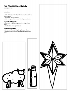 FREE and simple nativitiy coloring pages. You can use them for coloring sheets, popsicle stick puppets or just a kid-friendly nativity.
