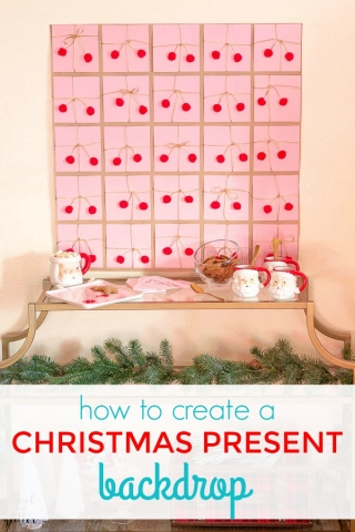 How to create a Christmas present backdrop