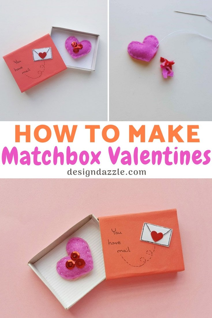 How to make matchbox valentines 1