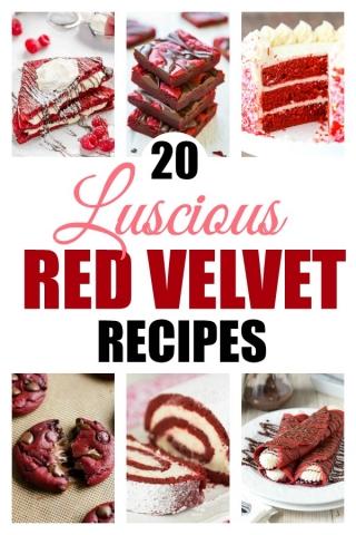 Red velvet recipes text