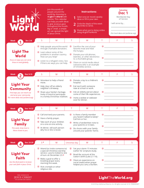 One of my very favorite activities to participate in every Christmas is Light The World from the Church of Jesus Christ of Latter-Day Saints!| Design Dazzle