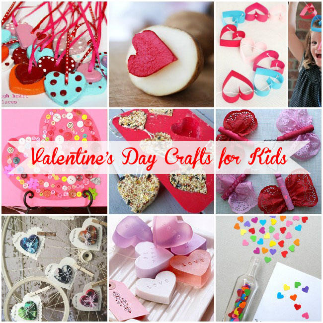 Valentines day crafts for kids collage