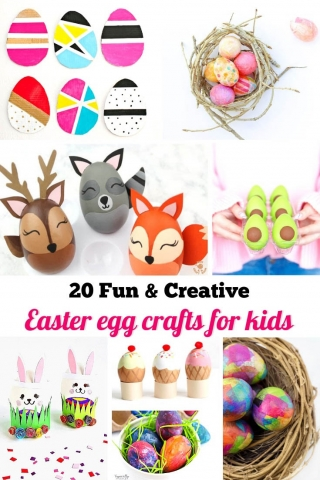 20 fun creative easter egg crafts for kids pinterest 1
