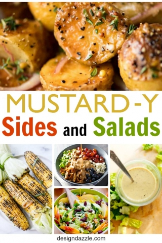 Delicious mustard y sides and salads