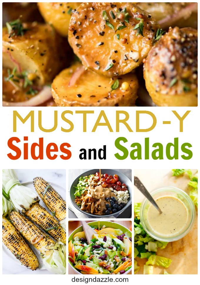 Delicious mustard y sides and salads for National Mustard Day! - Design Dazzle
