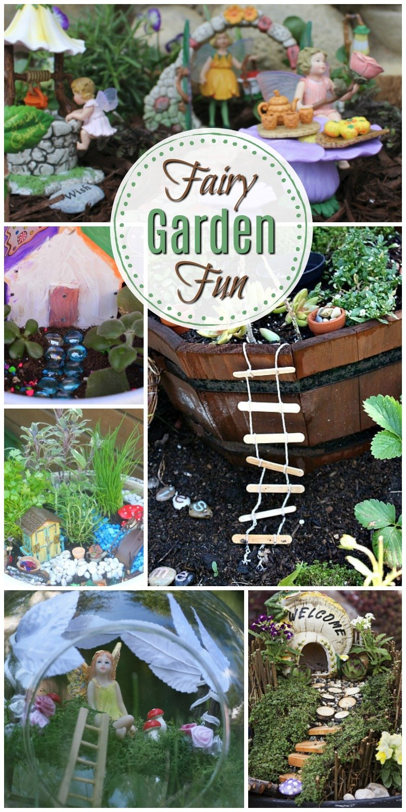 These adorable fairy garden ideas will definitely impress anyone who sees! Check out how to make a darling DIY Fairy Garden for indoors or outdoors! #fairygarden #fairyhouses || Design Dazzle