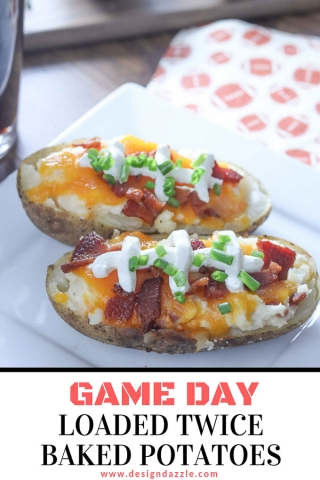 Game day loaded twice baked potatoes pinterest 1