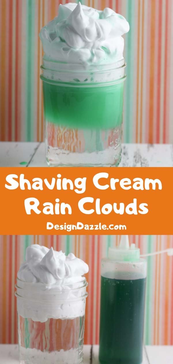 Shaving cream rain clouds 1