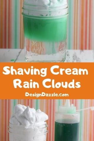 Shaving cream rain clouds