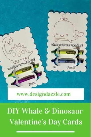 Whale dinosaur valentines pinterest 1