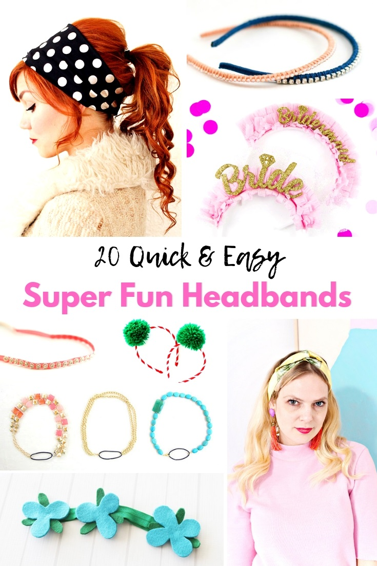 You can DIY headbands in so many cute ways! Here we have collected 20 easy peasy DIY headbands for both kids and adult alike! They are so much fun to create! It's a great boredom buster activity for the kids! - Design Dazzle