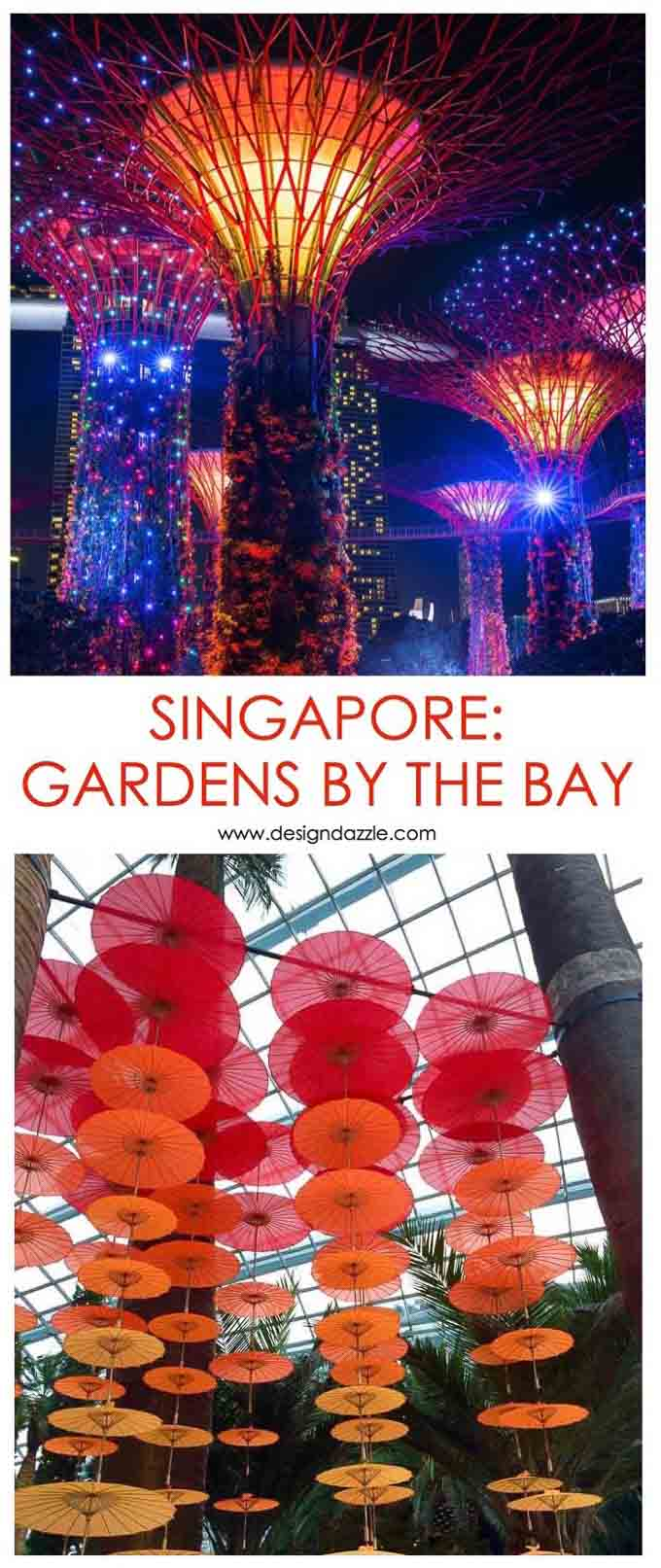 One of my all-time favorite parts of our trip to Singapore was visiting the Gardens by the Bay attractions. They are breathtakingly beautiful, a must-do! | Design Dazzle