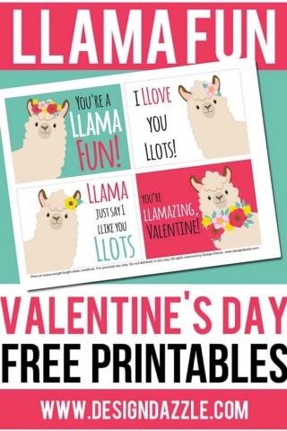 Llama valentine cards pinterest 1