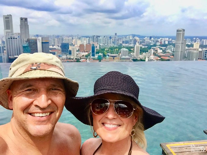 Singapore Marina Bay Sands and swimming in their infinity pool absolutely lived up to the hype! Read all about our experience! | Design Dazzle