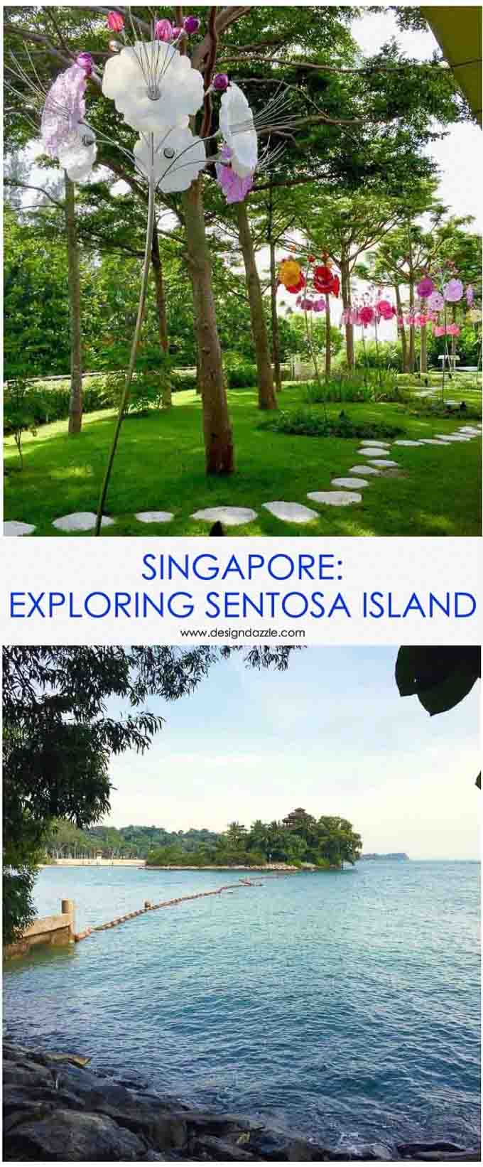 Sentosa is an island resort off Singapore's southern coast. It's a man-made themed park-like recreation island. Read all about the fun we had on this Island in this post! | Design Dazzle