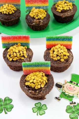 St patricks day brownie bites 7