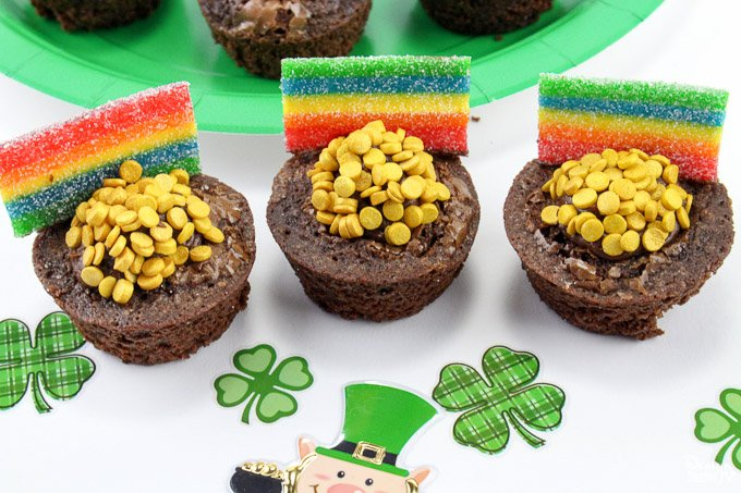 St patricks day brownie bites 9