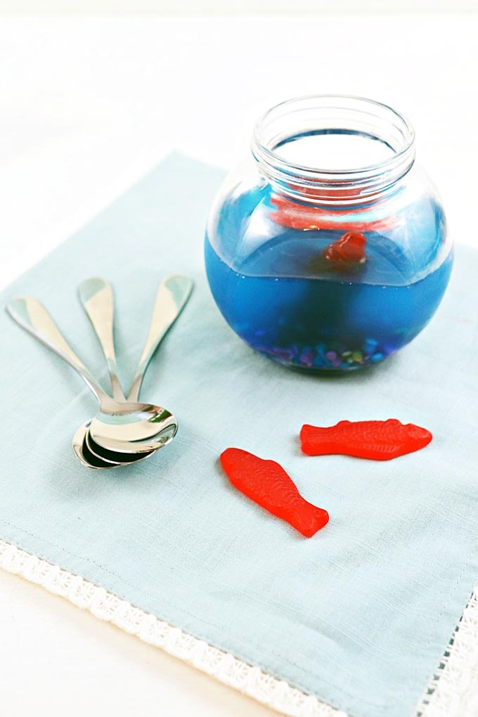 This under the sea aquarium made from jello will definitely add so much fun, color, and character to your party or any room in your home especially this summer! It's super easy and quick to make. It also smells so good! - Design Dazzle