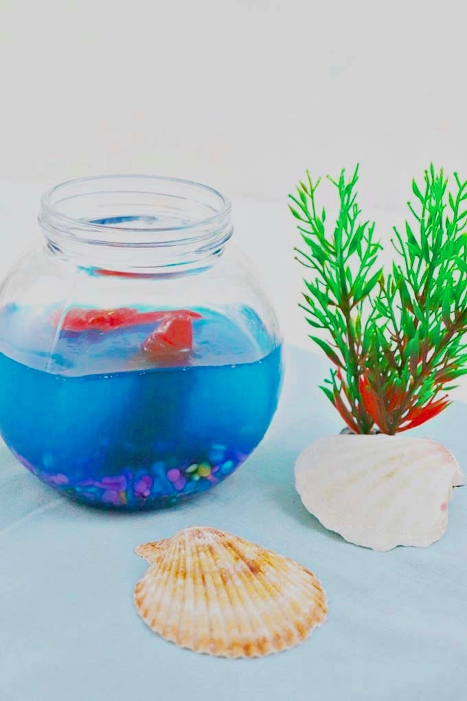 This under the sea aquarium jello will definitely add so much fun, color, and character to your party or any room in your home especially this summer! It's super easy and quick to make. It also smells so good! - Design Dazzle
