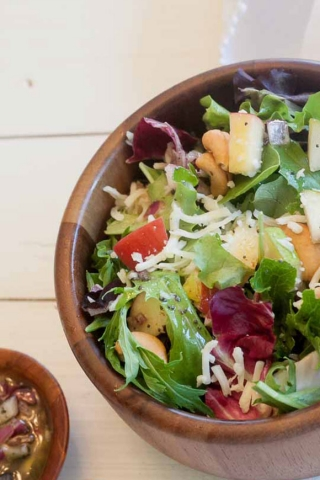 Delicious apple pear salad with yummy dressing | Design Dazzle