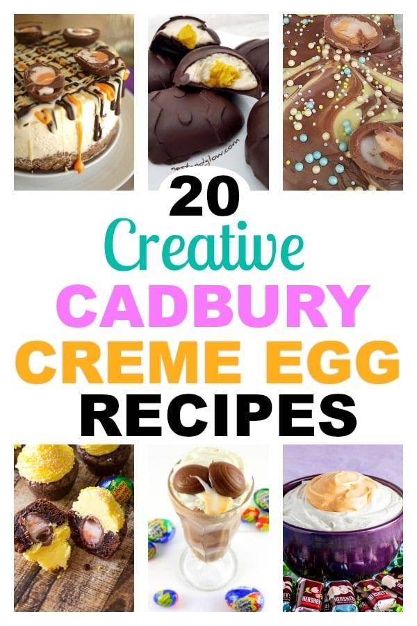 Creative Cadbury Creme Egg recipes