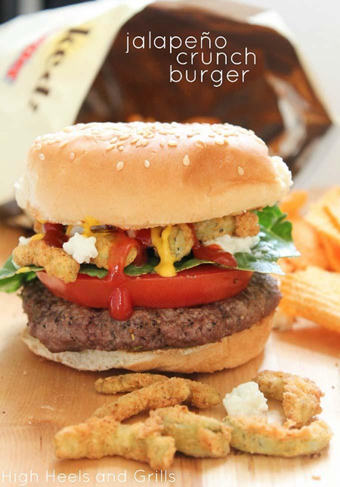 Jalepeno crunch burger
