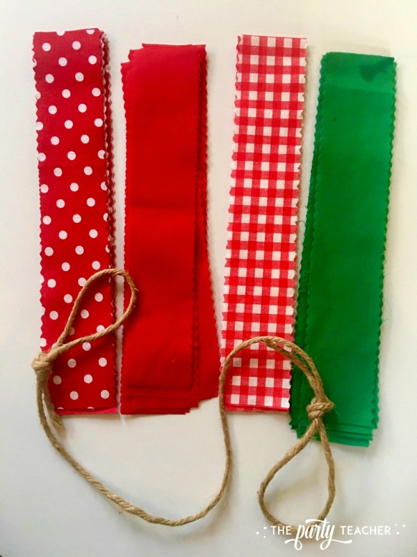 Christmas chair bunting tutorial by the party teacher 3