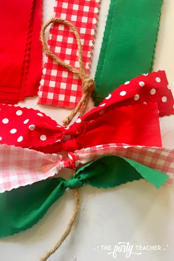 Christmas chair bunting tutorial by the party teacher 4