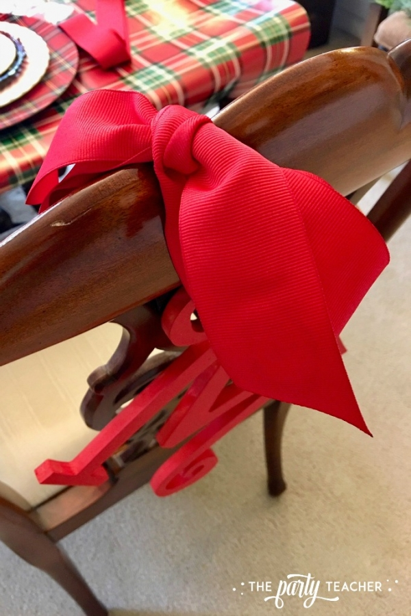 Christmas chair initial tutorial by the party teacher 4
