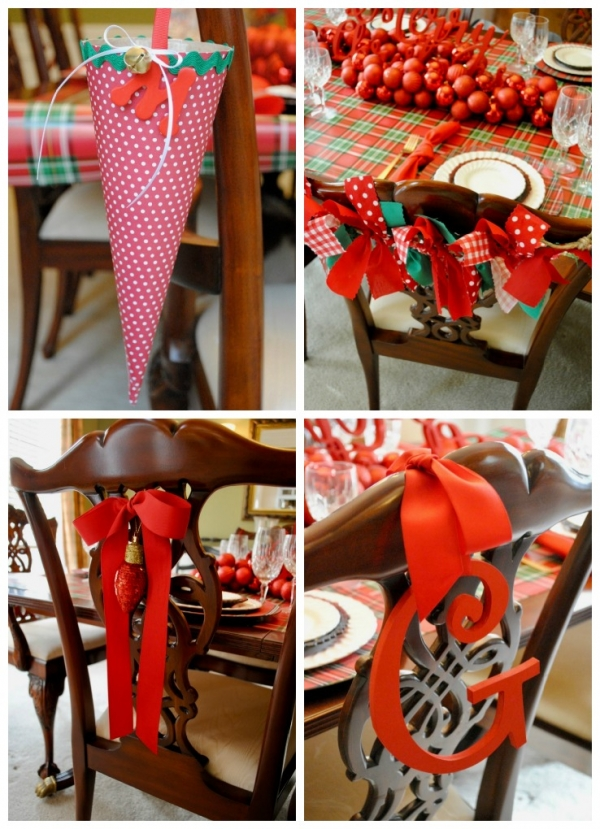 Christmas chairs 4 ways by the party teacher