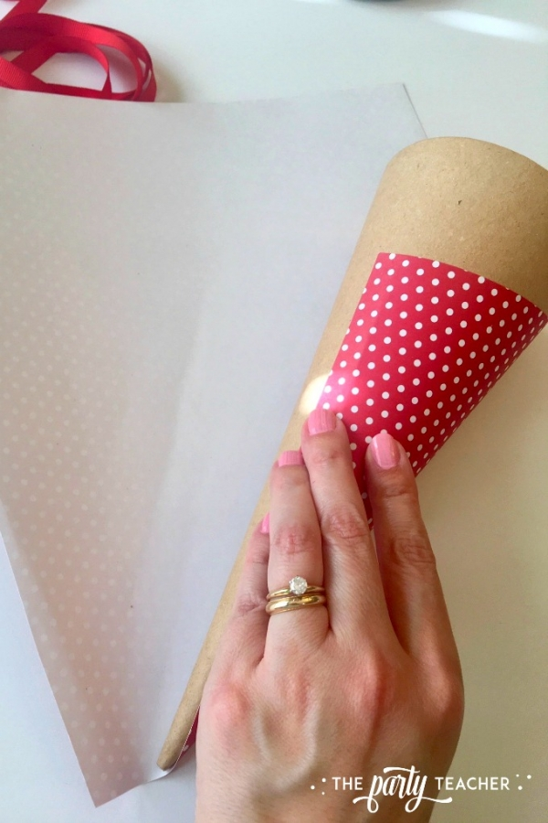 Christmas cone tutorial by the party teacher 1
