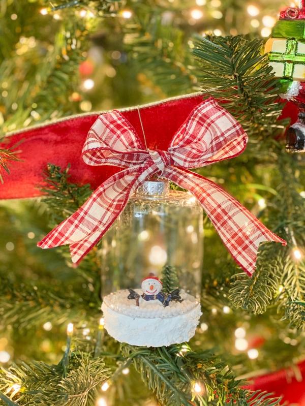 Everyday party magazine diy snowglobe ornaments