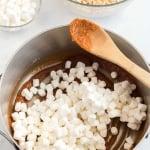 Pumpkin spice rice krispie squares 6