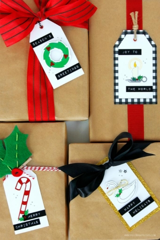Spectacular gift tags by piggy bank parties 1