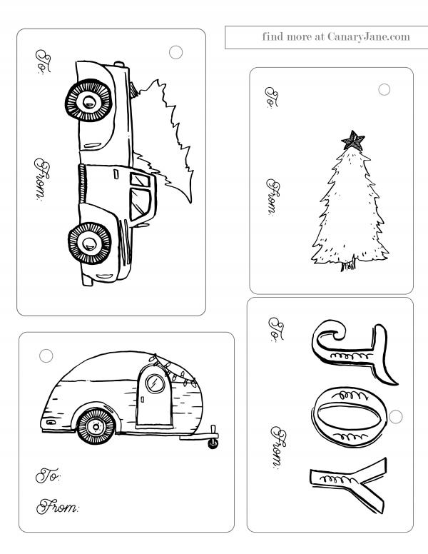 Christmas tags free printable canary jane boho classic 01