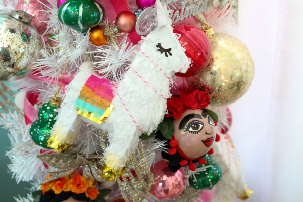 Frida kahlo handmade ornaments christmas tree 17