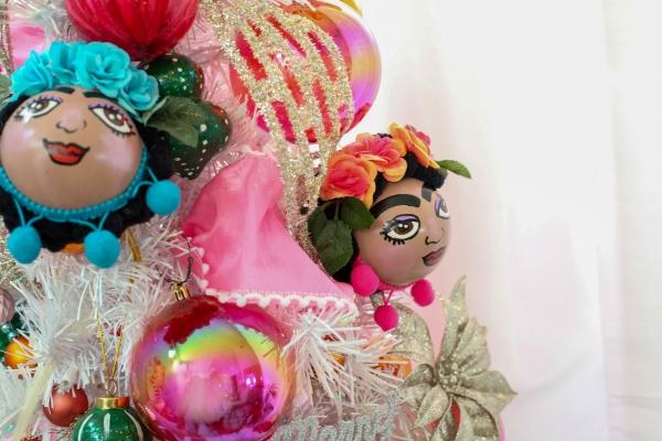 Frida kahlo handmade ornaments christmas tree 18